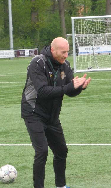 Martijn Meerdink in actie als trainer. Foto: Bart Kraan