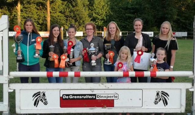 De clubkampioenen van de Grensruiters. Foto: PR
