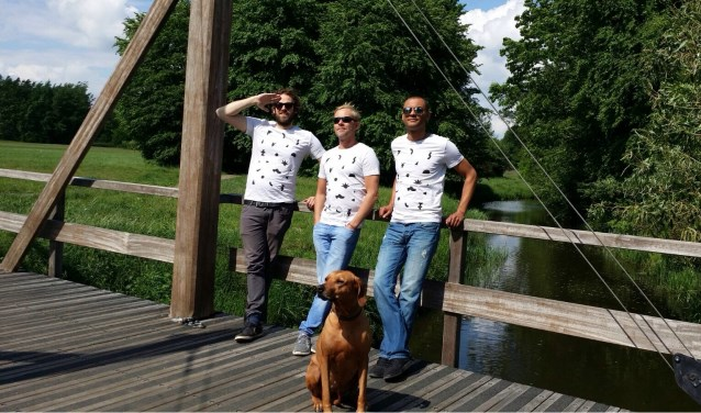 Vlnr: Geurt Kersjes, Colin Wielakker en Carlos Stahn, organisatoren van het Have A Nice Day Festival in Eibergen. Foto: PR