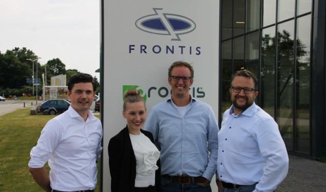 Van links naar rechts Sebastiaan Hemink, Loes ten Dolle (CEO for a day), Marco Willemsen en Marco Geurink.Foto: PR