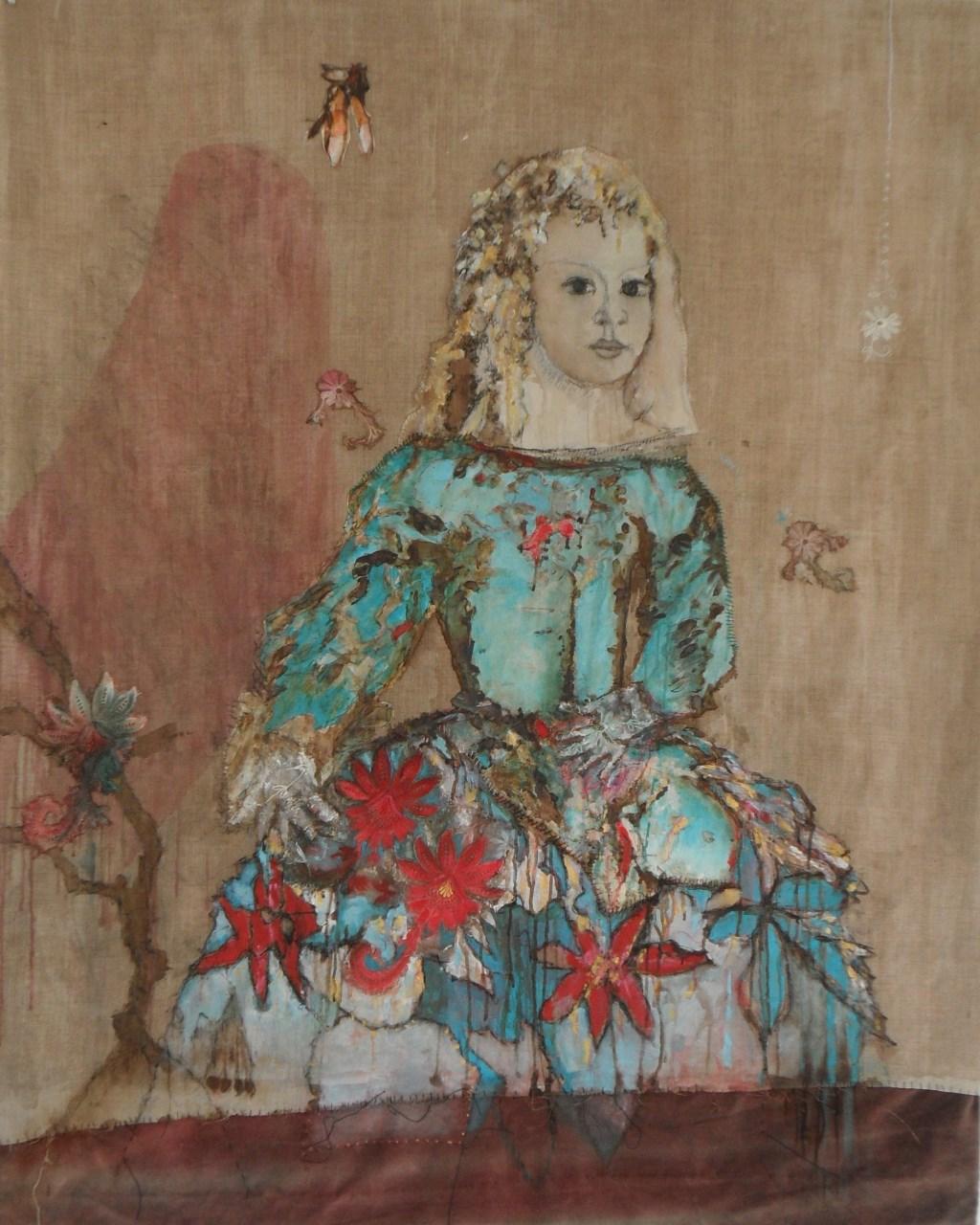 Werk van Johanna Menkhorst dat begin juli is te zien in de schuur van boerderij Winkels in Gelselaar. Foto: PR