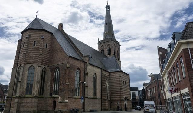 In de Catharinakerk zijn de komende weken cartoons te zien. Foto: Bram Wassink