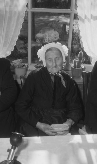 Chrissemeuje, op haar 108ste verjaardag. Foto: Nationaal Archief