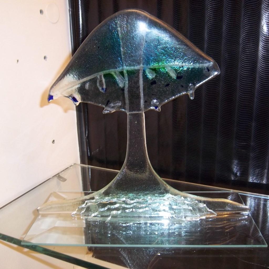 Glasobject, te zien tijdens de expositie van Freeke en Wim Nijman. Foto: PR