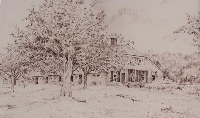 Tekening van boerderij 't Vaalderinck door Langlois van den Bergh. Foto: PR