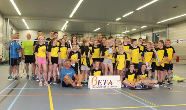 Badminton uitproberen in tien lessen, kan onder meer bij BCV. Foto: PR