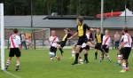 Actiefoto van de bekerwedstrijd tussen Vorden JO15-1 en Kon. UD JO15-1 in de voorbereiding op het seizoen. Foto: PR