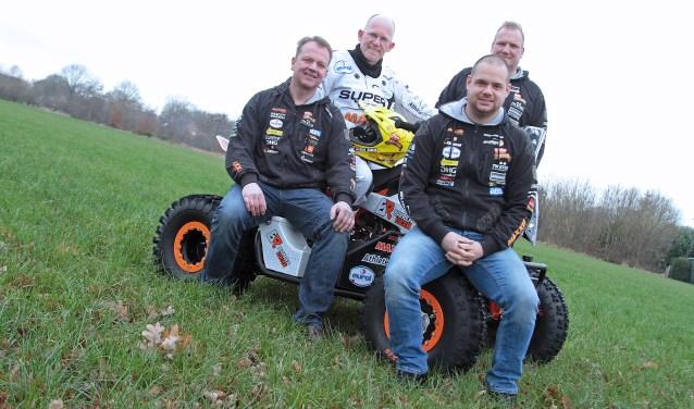 Team Barren Racing uit Vorden met Koolen, Wentink, Vruggink en Ten Harkel. Foto: Henk Teerink