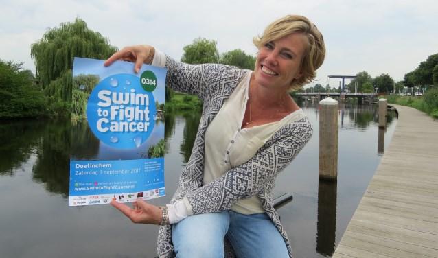 Projectleider Margot Verhagen van Swim to Fight Cancer 0314. Foto: Josée Gruwel