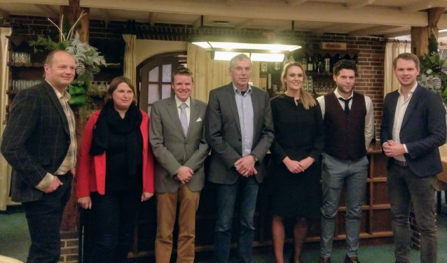 De nummers 1 tot en met 7 van de kieslijst van de VVD in Oost Gelre. Foto: PR