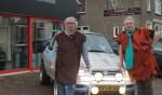 Peter Kreykamp en Sander Lensink met hun 'Hauto'. Foto: Kristel te Bokkel