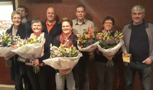 De jubilarissen van de Schanskloppers. Foto: PR