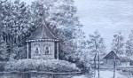 Willy Walvoort - Het theehuisje in Bredevoort. Foto: Collectie Leo van der Linde