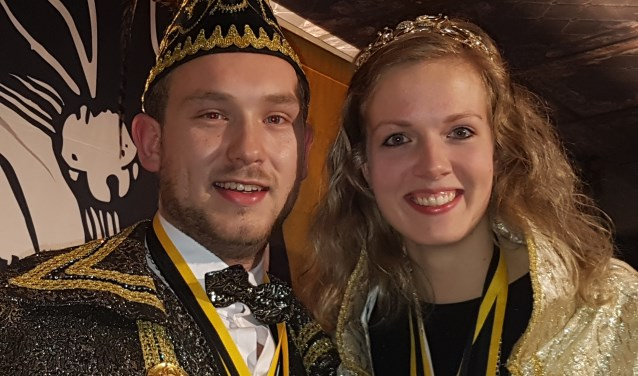 Het nieuwe prinsenpaar. Foto: Kyra Broshuis