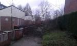 De schade, veroorzaakt door de storm, op de Ruysdaelhof. Foto: Simone van Koot