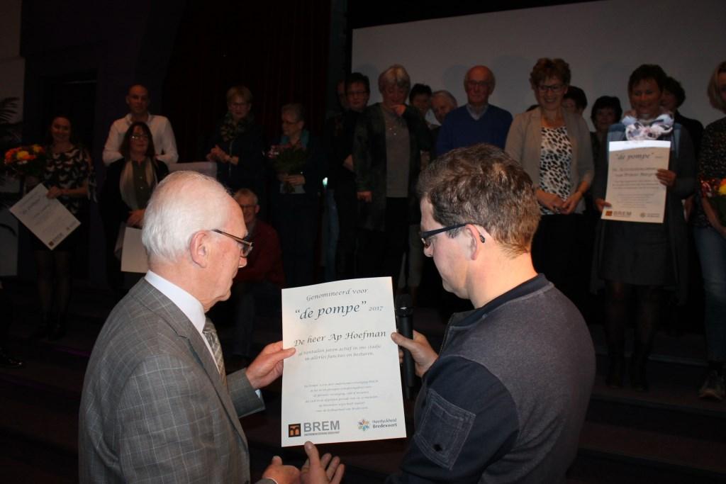 Ap Hoefman was één van de genomineerden voor De Pompe. Foto: Leo van der Linde  © Achterhoek Nieuws b.v.
