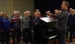 Con Spirito tijdens een repetitie. Foto: Frank Vinkenvleugel