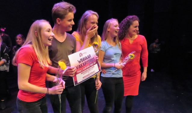 De jongelui van de Gaanderense Theaterfabriek Gekkoo zijn de grote winnaars van Amphion Open 2017. Foto: Josée Gruwel