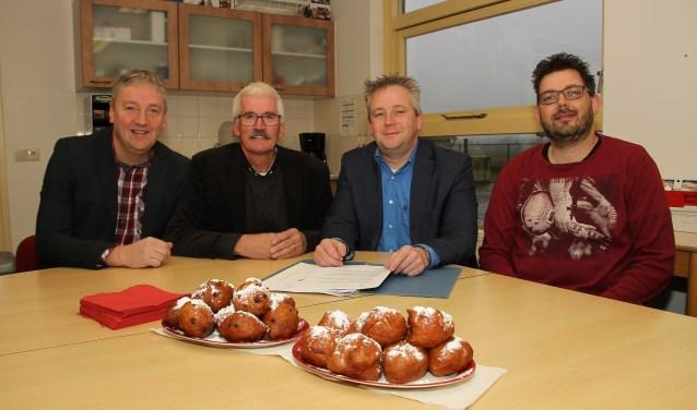 De ondertekenaars Mike de Boer, Jan Baars, Bas Schipper en Mark Roordink. Foto: Liesbeth Spaansen