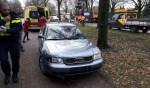 De auto kwam tot stilstand op het fietspad. Foto: News United/112 Achterhoek-Nieuws