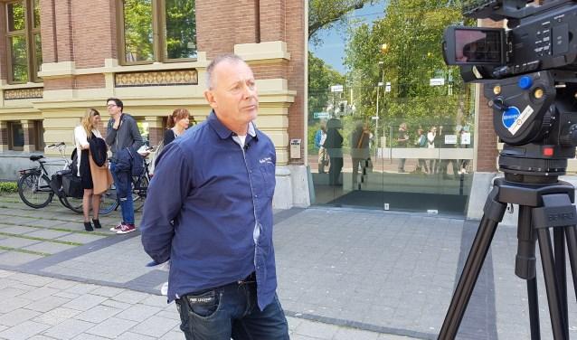 Hans Kamperman vorig jaar na de rechtszaak in Zutphen. Het hoger beroep heeft inmiddels gediend. Foto: Kyra Broshuis