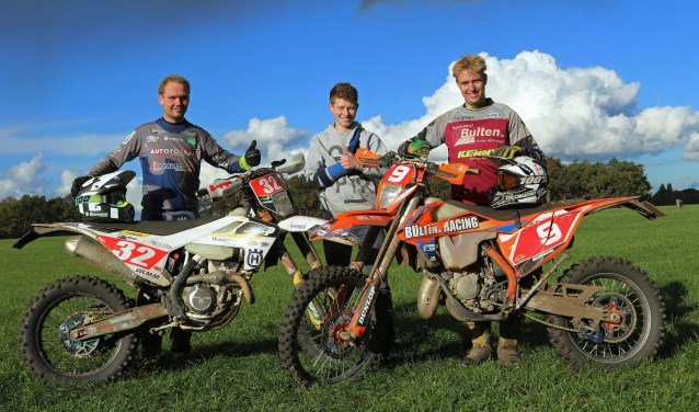Bas Klein Haneveld hier samen met Bram en Thijs Bulten. Foto: Henk Teerink