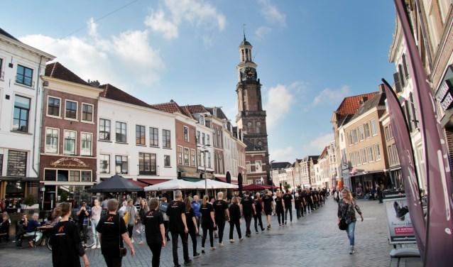 Vorig jaar werd er in Zutphen voor het eerst een Walk for Freedom georganiseerd.  Foto: Hans Baakman