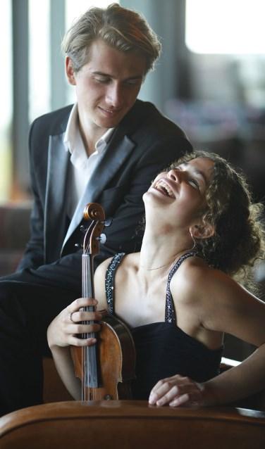 Matthieu Idmtal en Maya Levy. Foto: PR