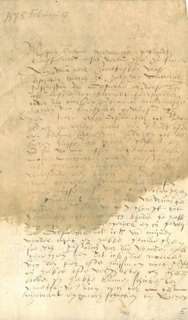 Een brief van 17 februari 1575 is de Zutphense inzending voor de landelijke verkiezing 'Stuk van het Jaar'. Foto: PR