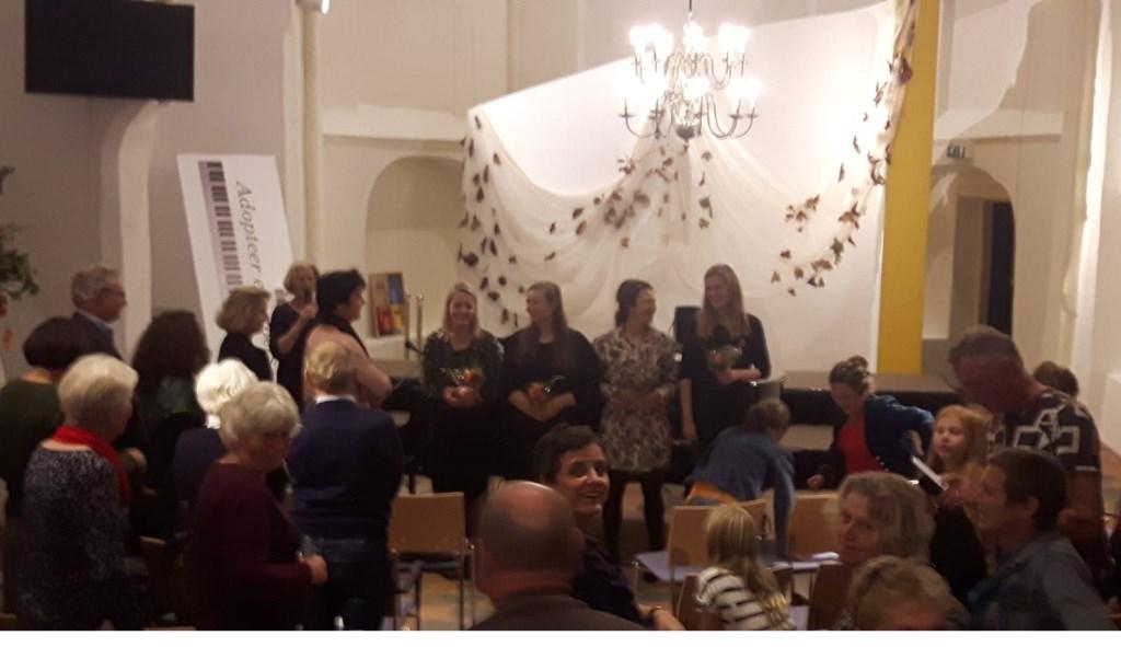 Karin Hukker, Ester Wiegerinck, Felicia en Lien Cornelissen zorgden voor een prachtige muziekavond. Foto: PR  © Achterhoek Nieuws b.v.
