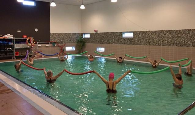 Reumapatiënten hebben baat bij bewegen, zoals hier bij het zwemmen in Sutfene. Foto: PR