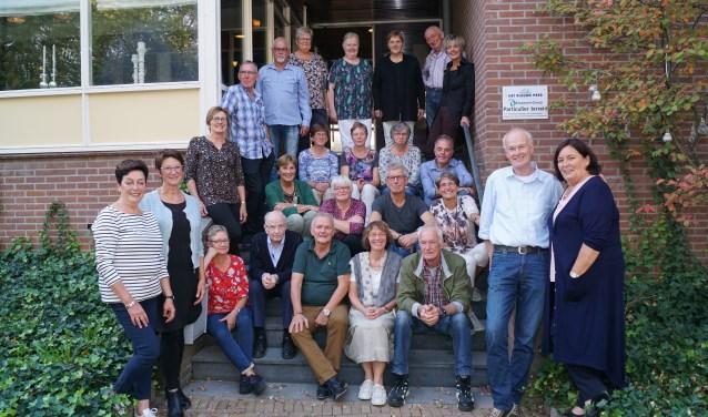 De reünisten van de Ds. van Dijkschool. Foto: Frank Vinkenvleugel