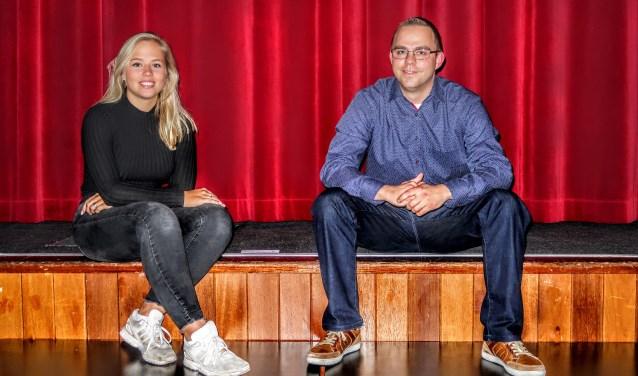 Ilse Kappert en Bart Tiessink werken allebei al jaren met veel plezier mee aan de revue van Jong Gelre Vorden-Warnsveld. Foto: Luuk Stam