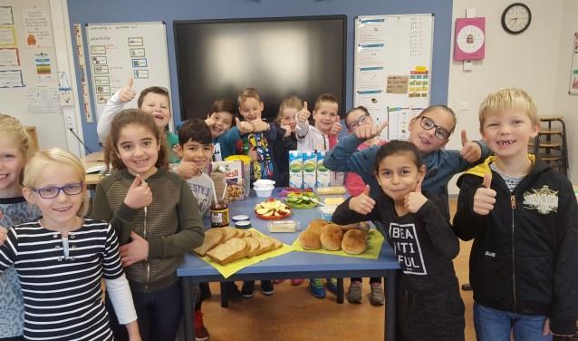 Lekker ontbijten op school. Foto: PR