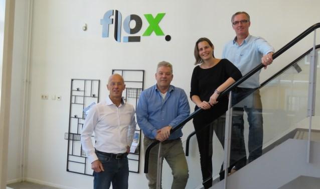 Ronald Treijtel, Ruud Veldkamp, Tine Paulus en Gerbrand van Noort (vlnr). Foto: Bert Vinkenborg