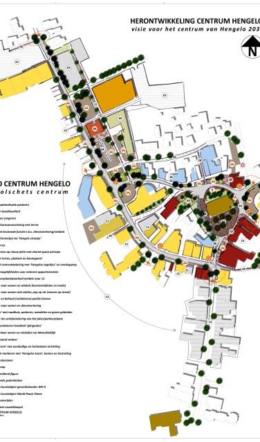 Visie voor het verbeteren van de vitaliteit van dorpskern Hengelo. Bron: Projectgroep Vitale Kernen Hengelo