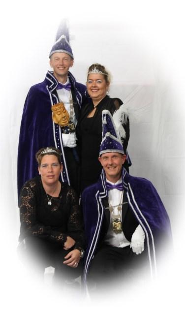 Het nieuwe Prinsenpaar van cv Bacchus met dames. Foto: PR