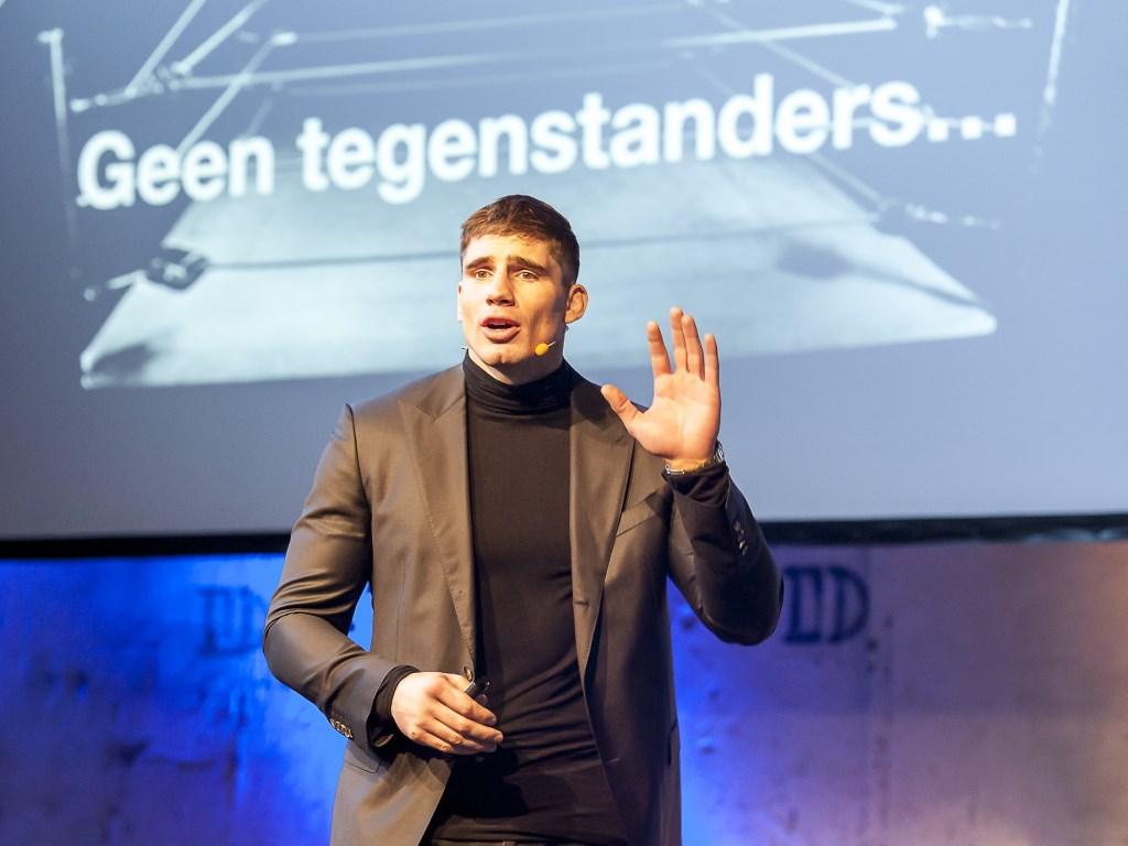 Rico Verhoeven inspireert Talenten. Foto: Henk van Raaij Foto: Henk van Raaij © Achterhoek Nieuws b.v.