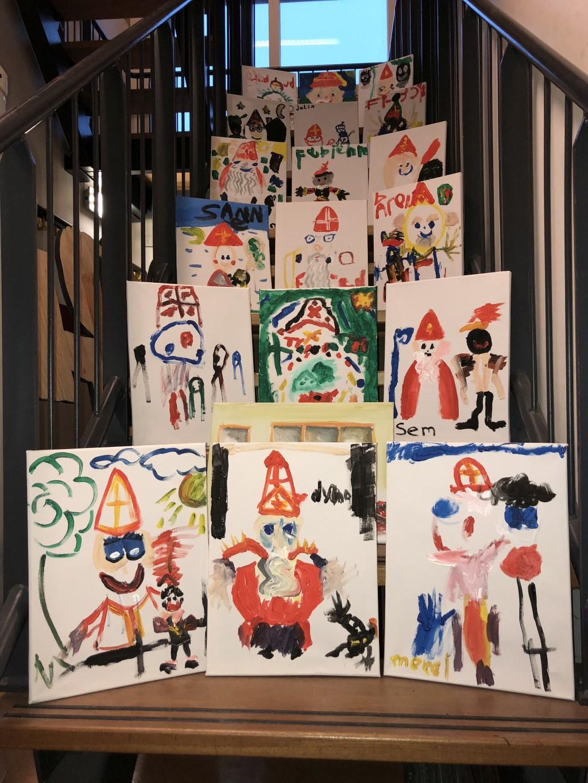 De inzendingen van de kleur- en knutselwedstrijd van vorig jaar. Foto: PR  © Achterhoek Nieuws b.v.
