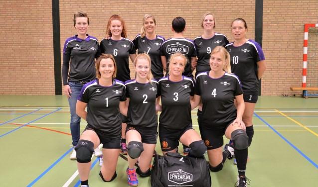 Focus Dames 2 met nieuwe shirts en tas. Foto: Gerrit Kempers