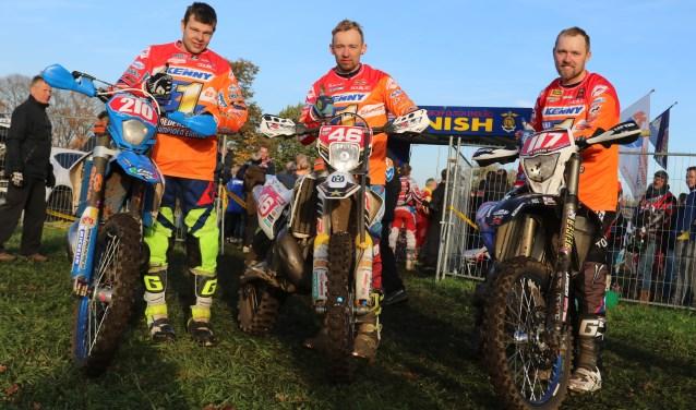 Kampioenen in de E1, E2 en E3 Thierry Pittens, Wesley Pittens en Luca Dolfing. Foto: Henk Teerink