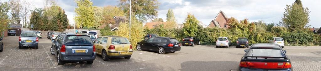 De parkeerplaats voor de opruimbeurt. Foto: Frank Vinkenvleugel  © Achterhoek Nieuws b.v.