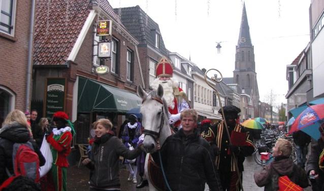 Sint op het paard in Lichtenvoorde. Foto: Ferry Broshuis