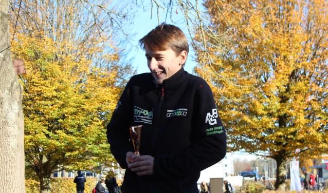 Kick Woltering derde bij JSR 12-14 jaar. Foto: Evi Nijman