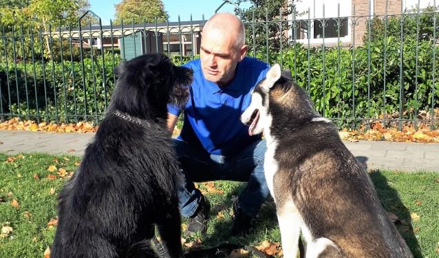 Joep de Keyzer met zijn honden. Foto: PR