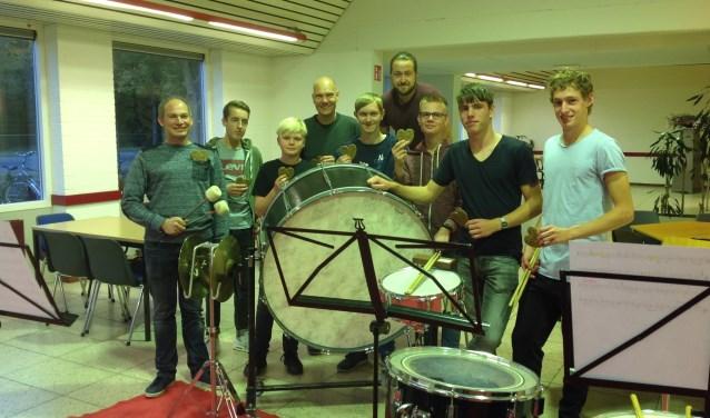 Ook de Slagwerkgroep AOV gaat speculaas verkopen.  Foto: PR