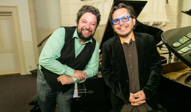 Pianisten Mike Boddé en Mike del Ferro. Foto: PR