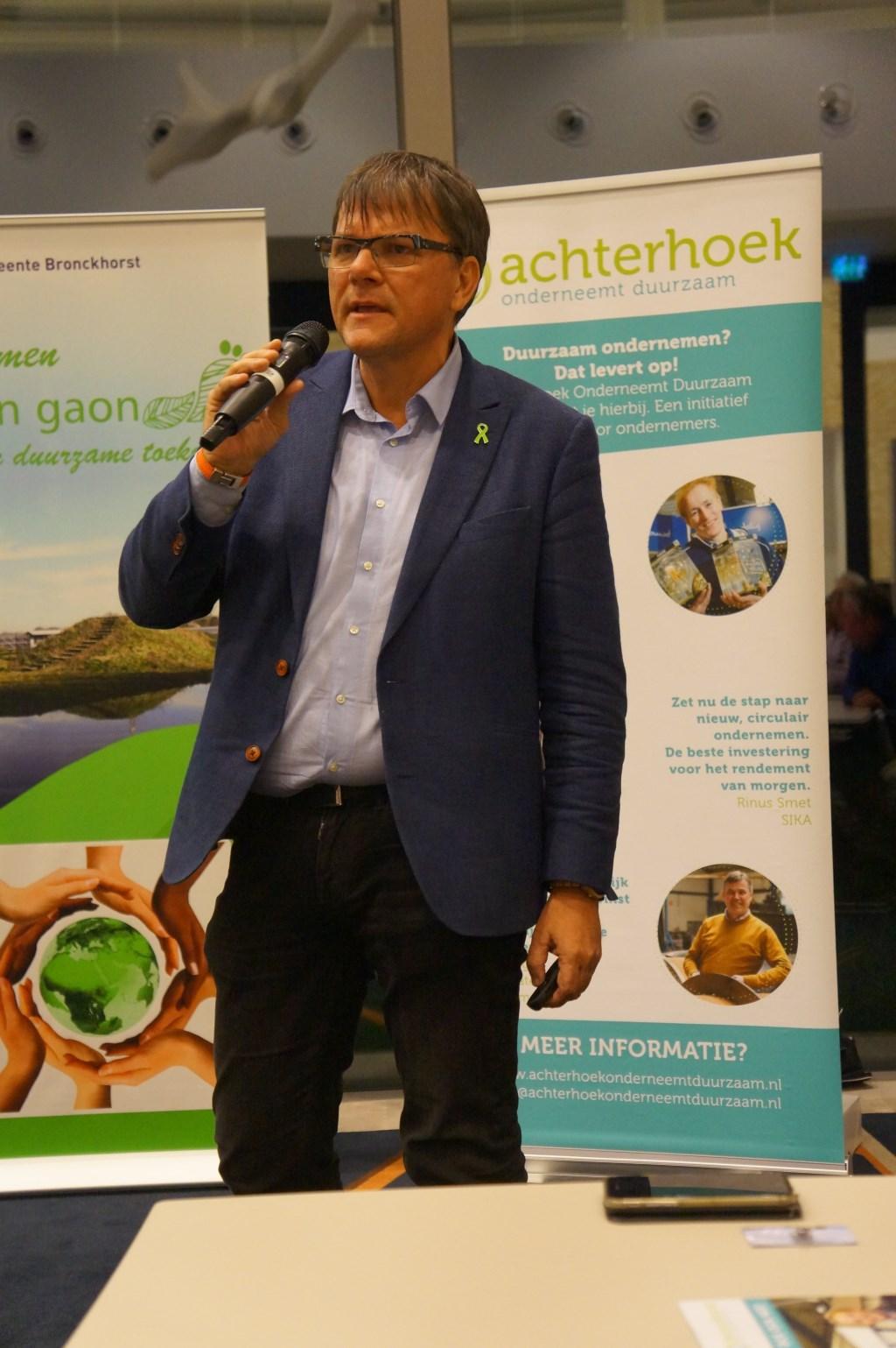 Gastspreker en duurzaamheidsgoeroe Maurice Beijck. Foto: PR  © Achterhoek Nieuws b.v.