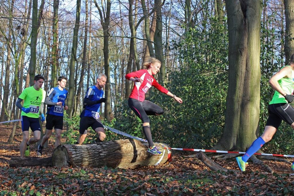 Springen over boomstammen maakt het parcours uitdagend. Foto PR  © Achterhoek Nieuws b.v.