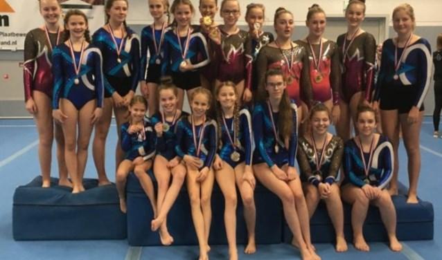 De acrogymnasten van Borchlo. Foto: Corine Vrieze